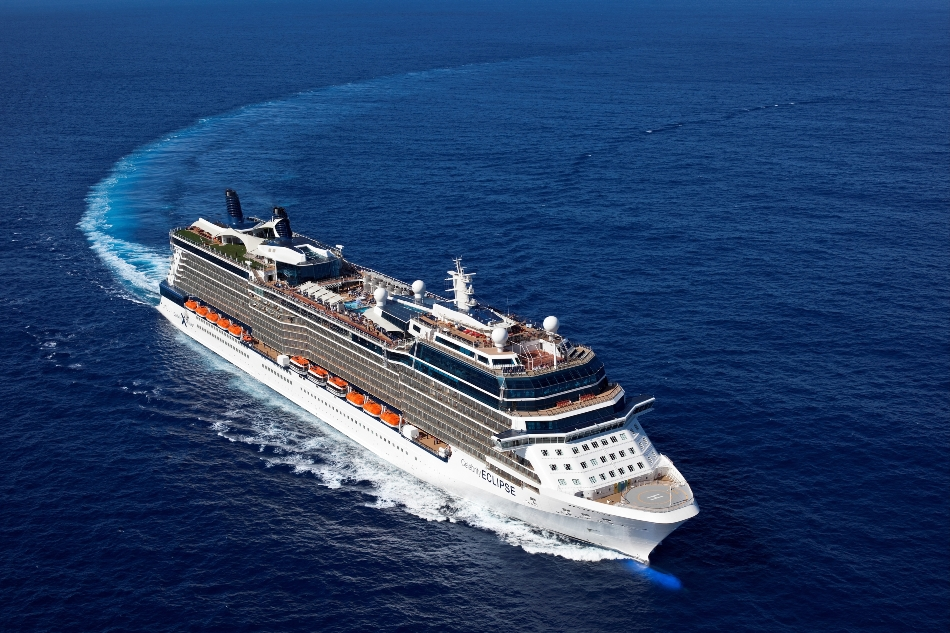 Aerial Celebrity Eclipse Celebrity Eclipse - Celebrity Cruises
